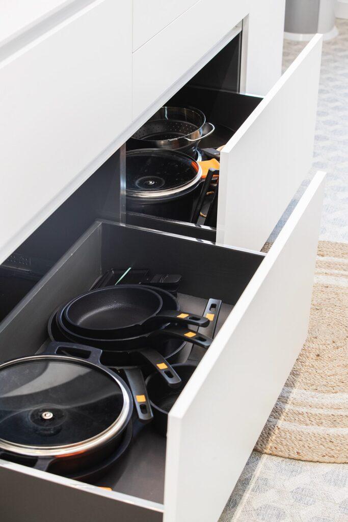 organizar la cocina con muebles ergonómicos
